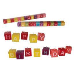 Színes Happy Birthday Gyertya Szett