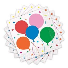 Színes Léggömb Mintás - Colourful Balloons Parti Szalvéta