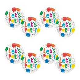 Színes Léggömb Mintás - Colourful Balloons Parti Tányér