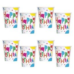Színes Léggömb Mintás Happy Birthday Colourful Balloons