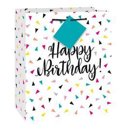 Kicsi - Színes Mintás Happy Birthday Szülinapi Ajándéktasak