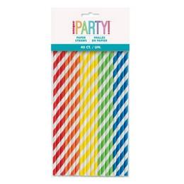 Színes Papír Parti Szívószál