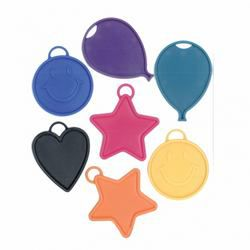 Smile, Csillag, Szív és Lufi Léggömbnehezék - 15 gramm (25 db/csomag)
