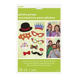 Születésnapi Vicces Kiegészítő Szett Fotózáshoz - 10 db-os