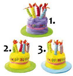 Színes, Plüss, Happy Birthday Szülinapi Parti Kalap