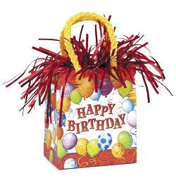Happy Birthday Szülinapi Mini Ajándéktasak Léggömbsúly