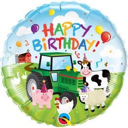 18 inch-es Farm Állatos - Birthday Barnyard Farmos Szülinapi Héliumos Fólia Lufi