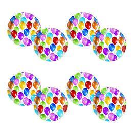 Balloon Fiesta Parti Tányér - 20 cm, 10 db-os