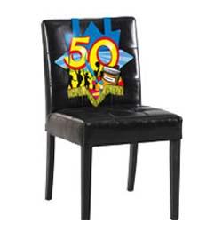 50-es Számos Színes Szülinapi Parti Székdekoráció