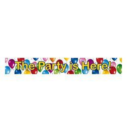 Balloon Fiesta The Parti is Here Banner - 90 cm x 13 cm, 3 db-os