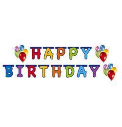Balloon Fiesta Happy Birthday Parti Füzér - 170 cm x 15 cm