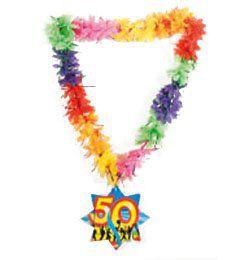 50-es Számos Szülinapi Hawaii Parti Nyakfüzér
