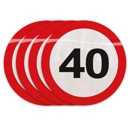 40-es Számos Sebességkorlátozó Szülinapi Parti Szalvéta - 30 cm, 20 db-os
