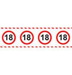18-as Számos Sebességkorlátozó Szülinapi Parti Szalag - 15 m