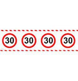 30-as Számos Sebességkorlátozó Szülinapi Parti Szalag - 15 m