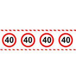 40-es Számos Sebességkorlátozó Szülinapi  Parti Szalag - 15 m