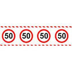 50-es Számos Sebességkorlátozó Szülinapi Parti Szalag - 15 m