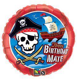18 inch-es Kalózhajó - Birthday Mate Pirate Ship Szülinapi Héliumos Fólia Lufi
