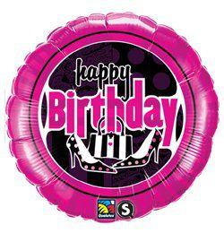 18 inch-es Női Mulatság - Birthday Feminine Fun Szülinapi Héliumos Fólia Lufi