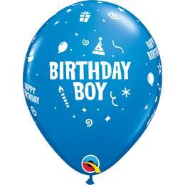 Birthday Boy Szülinapi Lufi - Színes, 28 cm, 6 db
