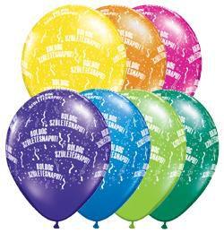 11 inch-es Boldog Születésnapot Fantasy Lufi (6 db/csomag)