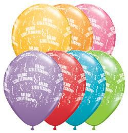11 inch-es Boldog Születésnapot Festive Lufi (25 db/csomag)