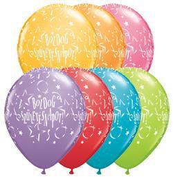 11 inch-es Boldog Születésnapot Stars Festive Lufi (25 db/csomag)