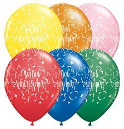 Boldog Születésnapot Csillagos Lufi - Standard, 28 cm, 25 db