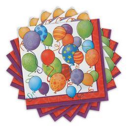 Léggömbös Szülinapi Szalvéta - Birthday Balloons