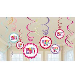 szülinapi parti kellékek gyerekeknek Lányos Szülinapi Függő Dekoráció | Party Kellékek Webshop szülinapi parti kellékek gyerekeknek
