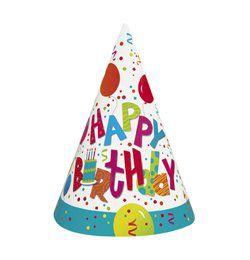 Birthday Jamboree Szülinapi Parti Kalap - 8 db-os