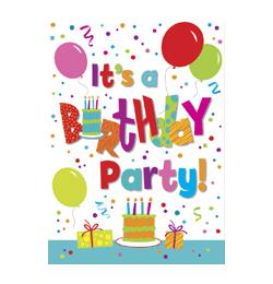 Birthday Jamboree Szülinapi Parti Meghívókártya és Boríték - 8 db-os