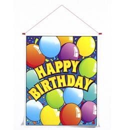 Happy Birthday Feliratú Szülinapi Parti Banner - 61 cm x 76 cm