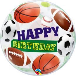 22 inch-es Birthday Sport Ball - Sportlabdás Szülinapi Héliumos Bubble Lufi