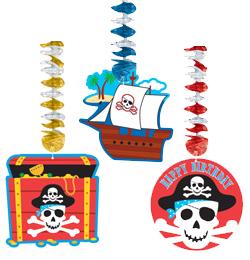Kalóz (Pirate) Parti Függő Dekoráció - 76 cm, 3 db-os