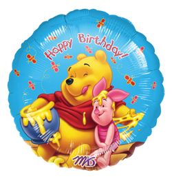 18 inch-es Micimackós - Honey Birthday - Szülinapi Héliumos Fólia Lufi