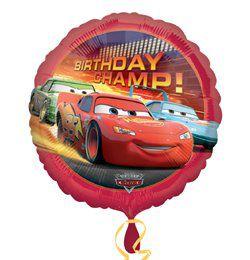18 inch-es Verdák, Cars - Birthday Champ - Szülinapi Héliumos Fólia Lufi