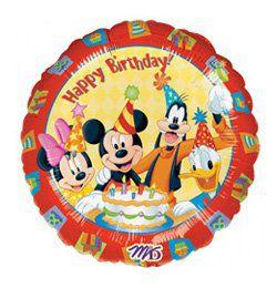 18 inch-es Mickey & Friends Happy Birthday - Mikiegeres Szülinapi Héliumos Fólia Lufi