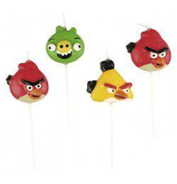 Angry Birds Parti Gyertya Szett - 4 db-os