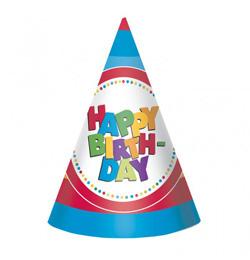 Happy Birthday Szülinapi Parti Kalap Férfiaknak és Fiúknak - 8 db-os