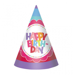 Happy Birthday Szülinapi Parti Kalap Hölgyeknek és Lányoknak - 8 db-os