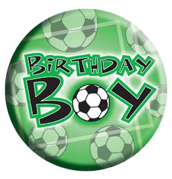 focis szülinapi kép Birthday Boy Feliratos Focis Parti Kitűző   6,5 cm focis szülinapi kép