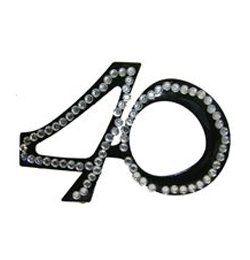 Fekete 40-es Szülinapi Parti Szemüveg