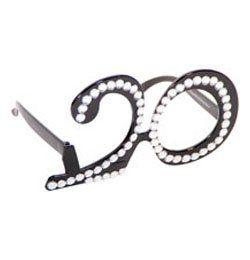 Fekete 20-as Számos Szülinapi Parti Szemüveg
