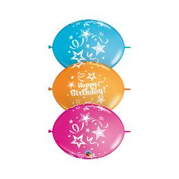 Szülinapi Party Banner Quick Link Lufi Füzér, 10 db-os