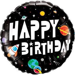 18 inch-es Birthday Astronaut Szülinapi Fólia Lufi
