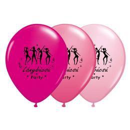 11 inch-es Táncolós Lánybúcsú Party Assorted Feketével Lufi (6 db/csomag)