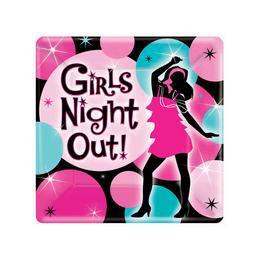 Tányér Lánybúcsúra - Girls Night Out -18 cm, 8 db-os