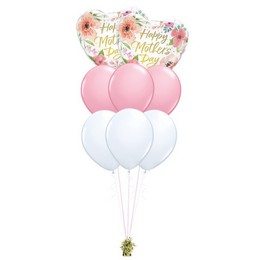 Tavaszi Virágmintás – Anyáknapi prémium léggömbcsokor