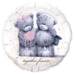 18 inch-es Macik - Tatty Teddy Together Forever Héliumos Fólia Lufi
